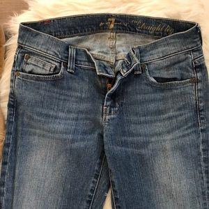 7FAM Crop Jeans